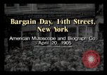 Image of Bargain Day New York City USA, 1903, second 1 stock footage video 65675040616