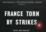 Image of Strikes Paris France, 1947, second 1 stock footage video 65675040649