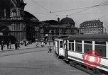 Image of Frankfurt Central Station one year after World War 2 Frankfurt Germany, 1946, second 5 stock footage video 65675040670
