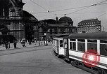 Image of Frankfurt Central Station one year after World War 2 Frankfurt Germany, 1946, second 7 stock footage video 65675040670
