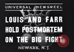 Image of Joe Louis New Jersey United States USA, 1937, second 1 stock footage video 65675040681