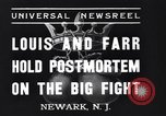 Image of Joe Louis New Jersey United States USA, 1937, second 2 stock footage video 65675040681