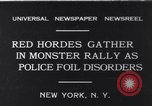 Image of Red Hordes New York United States USA, 1931, second 1 stock footage video 65675040714