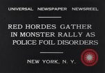 Image of Red Hordes New York United States USA, 1931, second 5 stock footage video 65675040714