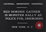 Image of Red Hordes New York United States USA, 1931, second 8 stock footage video 65675040714