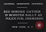 Image of Red Hordes New York United States USA, 1931, second 10 stock footage video 65675040714