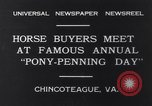 Image of Horse buyers Chincoteague Island Virginia USA, 1931, second 2 stock footage video 65675040715