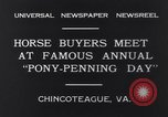 Image of Horse buyers Chincoteague Island Virginia USA, 1931, second 11 stock footage video 65675040715