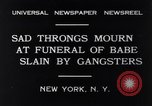 Image of Michael Vengalli funeral procession New York City USA, 1931, second 1 stock footage video 65675040716