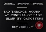 Image of Michael Vengalli funeral procession New York City USA, 1931, second 2 stock footage video 65675040716