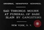 Image of Michael Vengalli funeral procession New York City USA, 1931, second 3 stock footage video 65675040716