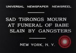 Image of Michael Vengalli funeral procession New York City USA, 1931, second 9 stock footage video 65675040716