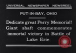 Image of Perry Memorial Put-In-Bay Ohio USA, 1931, second 1 stock footage video 65675040718