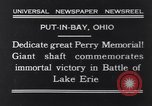 Image of Perry Memorial Put-In-Bay Ohio USA, 1931, second 2 stock footage video 65675040718