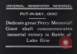 Image of Perry Memorial Put-In-Bay Ohio USA, 1931, second 7 stock footage video 65675040718