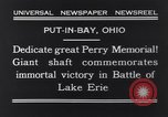 Image of Perry Memorial Put-In-Bay Ohio USA, 1931, second 8 stock footage video 65675040718