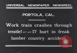 Image of Train accident Portola California USA, 1931, second 2 stock footage video 65675040719