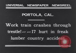 Image of Train accident Portola California USA, 1931, second 4 stock footage video 65675040719
