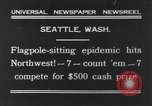 Image of Pole-sitting Seattle Washington USA, 1931, second 1 stock footage video 65675040720
