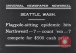 Image of Pole-sitting Seattle Washington USA, 1931, second 2 stock footage video 65675040720