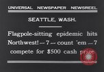 Image of Pole-sitting Seattle Washington USA, 1931, second 5 stock footage video 65675040720