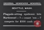 Image of Pole-sitting Seattle Washington USA, 1931, second 8 stock footage video 65675040720