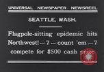 Image of Pole-sitting Seattle Washington USA, 1931, second 9 stock footage video 65675040720