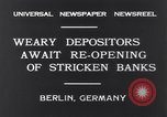 Image of Depositors Berlin Germany, 1931, second 8 stock footage video 65675040721