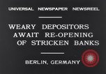 Image of Depositors Berlin Germany, 1931, second 9 stock footage video 65675040721