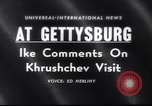 Image of President Eisenhower Gettysburg Pennsylvania USA, 1959, second 1 stock footage video 65675040724