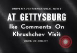 Image of President Eisenhower Gettysburg Pennsylvania USA, 1959, second 2 stock footage video 65675040724