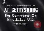 Image of President Eisenhower Gettysburg Pennsylvania USA, 1959, second 3 stock footage video 65675040724