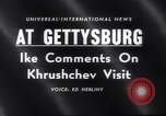 Image of President Eisenhower Gettysburg Pennsylvania USA, 1959, second 4 stock footage video 65675040724
