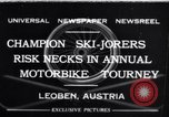 Image of Annual Motorbike Tournament Leoben Austria, 1932, second 1 stock footage video 65675040729