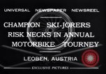 Image of Annual Motorbike Tournament Leoben Austria, 1932, second 4 stock footage video 65675040729