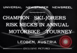 Image of Annual Motorbike Tournament Leoben Austria, 1932, second 9 stock footage video 65675040729