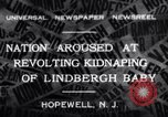Image of Lindbergh kidnapping Hopewell New Jersey United States USA, 1932, second 1 stock footage video 65675040731