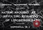 Image of Lindbergh kidnapping Hopewell New Jersey United States USA, 1932, second 2 stock footage video 65675040731