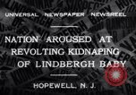 Image of Lindbergh kidnapping Hopewell New Jersey United States USA, 1932, second 3 stock footage video 65675040731