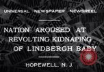 Image of Lindbergh kidnapping Hopewell New Jersey United States USA, 1932, second 4 stock footage video 65675040731
