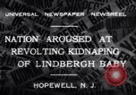 Image of Lindbergh kidnapping Hopewell New Jersey United States USA, 1932, second 7 stock footage video 65675040731