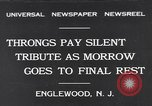 Image of Funeral Procession Englewood New Jersey USA, 1931, second 1 stock footage video 65675040733
