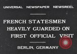 Image of French Statesmen Berlin Germany, 1931, second 1 stock footage video 65675040734
