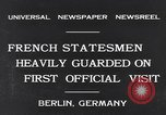 Image of French Statesmen Berlin Germany, 1931, second 2 stock footage video 65675040734