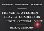 Image of French Statesmen Berlin Germany, 1931, second 7 stock footage video 65675040734