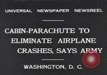 Image of Cabin Parachute Washington DC USA, 1931, second 1 stock footage video 65675040735
