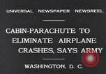 Image of Cabin Parachute Washington DC USA, 1931, second 2 stock footage video 65675040735