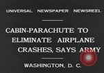 Image of Ten person aircraft cabin parachute Washington DC USA, 1931, second 3 stock footage video 65675040735