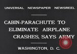 Image of Ten person aircraft cabin parachute Washington DC USA, 1931, second 5 stock footage video 65675040735