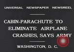 Image of Cabin Parachute Washington DC USA, 1931, second 6 stock footage video 65675040735